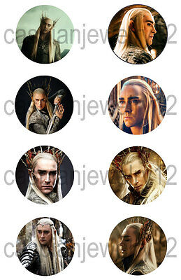 8 piece lot of Thranduil The Hobbit pins buttons badges