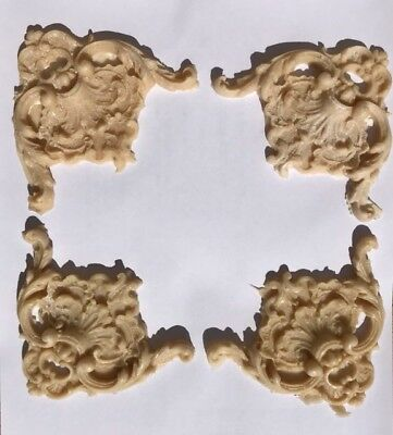 Set of Four Shabby Chic French Style Flexible Corner Appliques