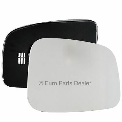 Driver Side HEATED WING DOOR MIRROR GLASS VW Transporter T5 2003-2009 Clip On