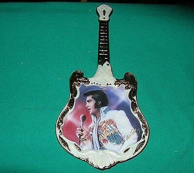 Elvis Presley Guitar Plate Limited Edition Bradford Exchange Plate 7th Issue A02