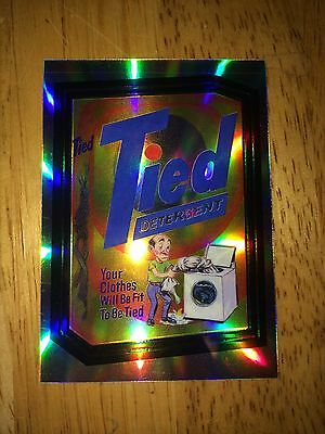 2014 WACKY PACKAGES CHROME REFRACTOR CARD TIED DETERGENT TIDE 26 CLASSIC 60'S