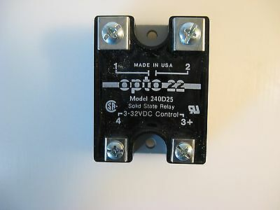 Opto 22 Solid State Relay 240D25-17, AMAT 1200-01034, New