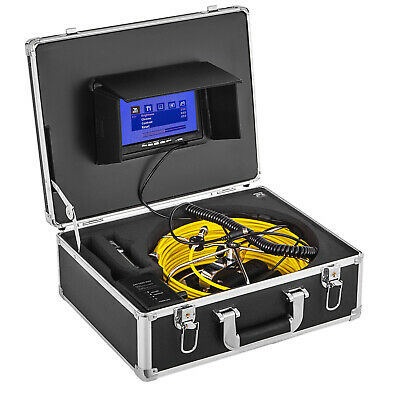"""30M Pipeline Inspection Sewer Waterproof Camera System 8G SD Card 7""""LCD DVR"""