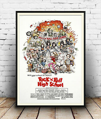 Rock & Roll high school The Ramones  . vintage Music film  poster reproduction.