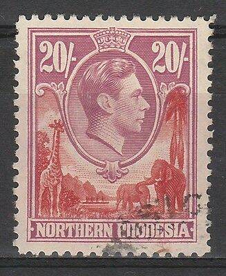 Northern Rhodesia 1938 Kgvi Giraffe And Elephant 20/- Top Value