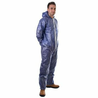 Quality Navy Disposable Paper Suit Protective Overall Coveralls- Free Post