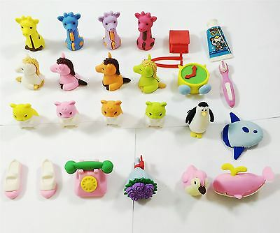 Cute Animal Toy Gifts Rubber Pencil Eraser Party Set Children Party Bag Filler