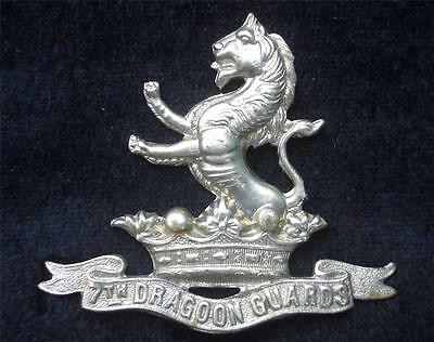 7th Dragoon Guards White Metal British Army Cavalry Cap Badge with lugs