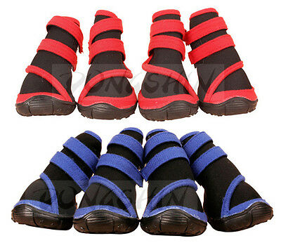 BOOTS Water Repellent Pet Dog Shoes Booties Protective All Weather Cold Hot