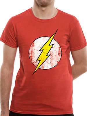 The Flash Logo Men's Red Cotton T-Shirt Short Sleeve - DC Officially Licensed