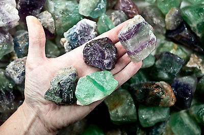 Fluorite Assorted Colors - 1 lb. lot for Cabbing, Tumbling, Metaphysical
