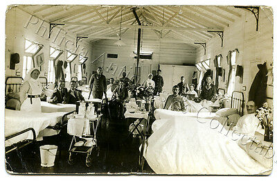 Ww1 Rp Npu Postcard Wounded British Soldiers Military Hospital England
