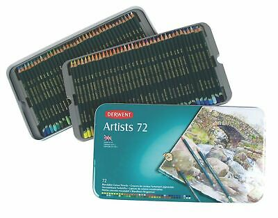 Derwent Artist Colouring Pencil - Authentic - Metal Tin of 72 Pencils
