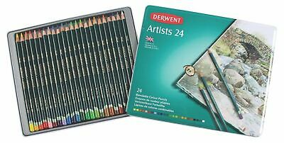 Derwent Artist Colouring Pencil - Authentic - Metal Tin of 24 Pencils