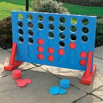 Giant Connect Four Garden Game 4 In A Row Indoor Outdoor Family Fun