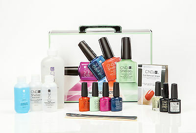 CND Shellac Trendy Collection Starter Pack/Trial Kit 4 Vibrant Colours Included