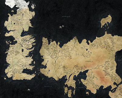 Game of Thrones Map - Art Print Poster - A1 A2 A3 A4 A5
