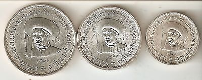 NICE 3 SILVER COINS FROM PORTUGAL YEAR 1960 KM. 587 at 589 UNCIRCULATED