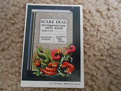 WACKY PACKAGES 1974 ORIGINAL SCARE DECOMPOSITON NOTE BOOK NM-MT