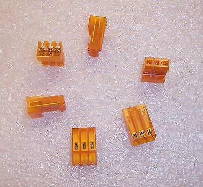 QTY (25) 640426-3 AMP 3 POSITION MTA-156 IDC CONNECTORS 18AWG 3.96mm