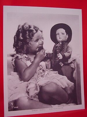 3 SHIRLEY TEMPLE WITH DOLLS, 8IN x 10IN PHOTOS, 12 POSES, REPRINTS