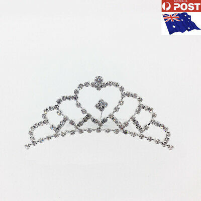 New Tiara Comb Bridal wedding Shinning heart rhinestone Tiara jewelry accessory