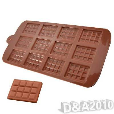 DIY Chocolate Ice Freeze Mold Silicone Pan Tray Cake Cookies Muffin Baking Mould