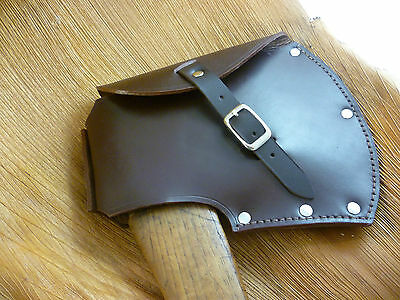 Leather axe blade/head cover, HUDSON BAY style, camping, survival, hunting.