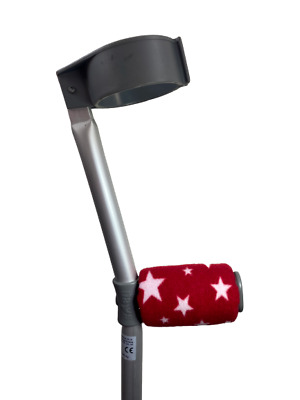Padded Handle Comfy Crutch Handle Covers/pads - Red Stars