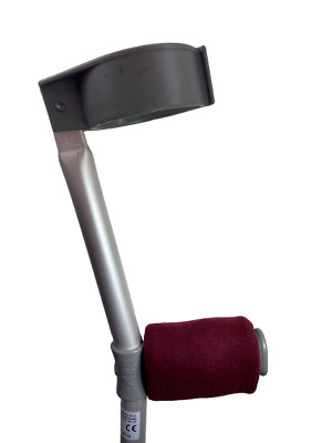 Crutch Handle Padded Covers HIGH QUALITY Cushioned Foam Pad - Maroon