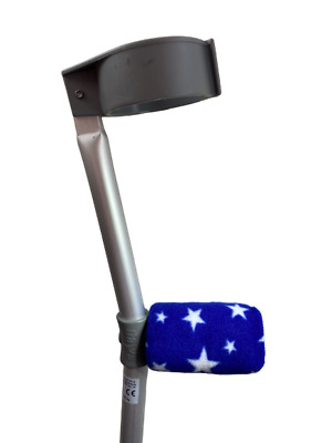 Padded Handle Comfy Crutch Covers/pads - Blue Stars