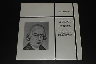 Carl Philipp - Emanuel Bach - Four Sonatas for Flute and Continuo FAST SHIPPING!