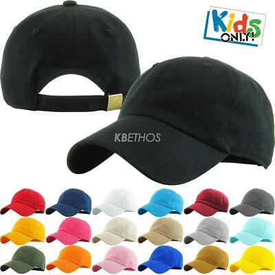 fe2fadd810c7e Youth Trucker Hat Ball Cap Kids Blank Plain Classic Junior Baseball Cap Kid