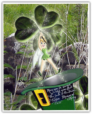 Disney St. Patrick's Day Irish Tinker Bell Autographed Photo