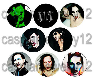 8 piece lot of Marilyn Manson pins buttons badges