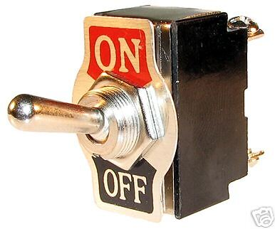 HEAVY  DUTY  ON/OFF  TOGGLE  SWITCH 12v  24v   FLICK  12 VOLT  24 VOLT LIGHT CAR