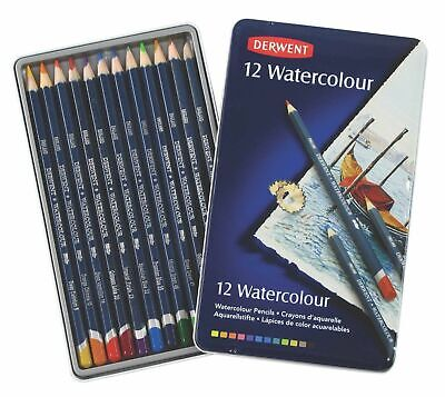 Derwent Watercolour Pencils - Authentic - 12 Colour Pencil Set