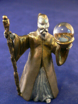 Wizard of the East Crystal Treasures Fantasy Brass Crystal Ball 1984