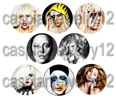 8 piece lot of Lady Gaga pins buttons badges