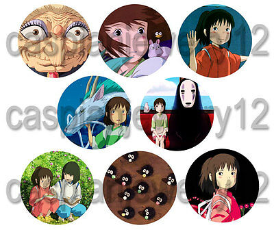 8 piece lot of Spirited Away pins buttons badges