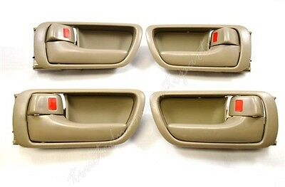 fits Toyota Inside Interior Door Handle Front Rear Left Right Beige Tan Set