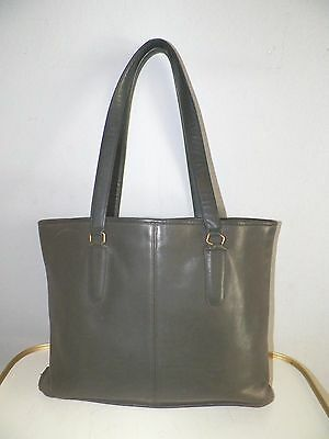 WOMEN'S VINTAGE COACH BLACK LEATHER TOTE STYLE HAND BAG PURSE USA MADE