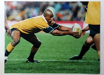 George Gregan Australian rugby union  Wallaby signed card & color photo & COA