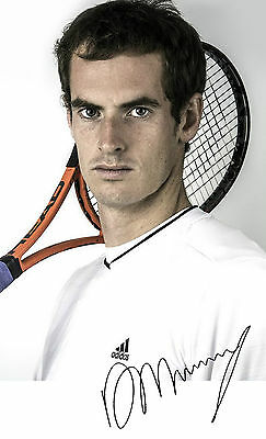 "Andy Murray PP Signed photograph 6"" x 4"" Tennis Wimbledon Champion 2013"