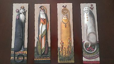Set of Four E. Smithson Resin Cat Wall Plaques