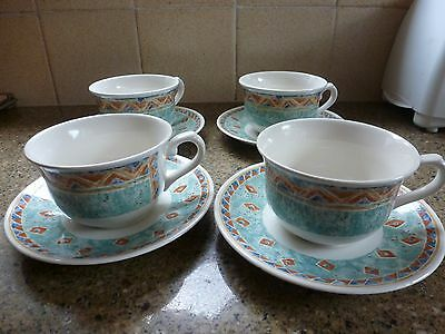 Churchill Ports of Call Kabul cups and saucers x 4 - excellent