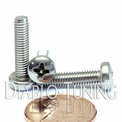 M4 x 18mm - Qty 10 - Stainless Steel Phillips Pan Head Machine Screws DIN 7985 A