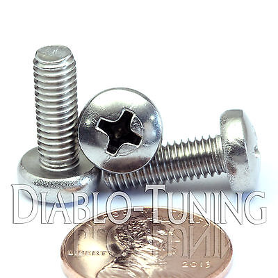 M5 x 14mm - Qty 10 - Stainless Steel Phillips Pan Head Machine Screws DIN 7985 A