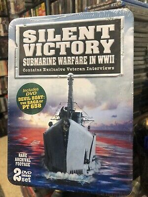 Silent Victory: Submarine Warfare in WWII (DVD) 2-Disc Set! Tin Case! BRAND NEW!