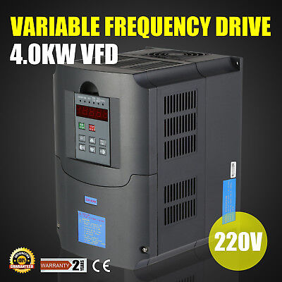 NEW TOP QUALITY 4KW 220V 5HP VARIABLE FREQUENCY DRIVE INVERTER VFD VSD USA Stock
